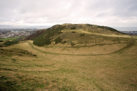 The Salisbury Crags, Edinburgh, Scotland, February 2012