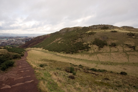 Whinny HIll, Salisbury Crags, Edinburgh, Scotland, February 2012