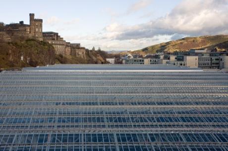 Waverley Station from N. Bridge, Edinburgh, Scotland, February 2012