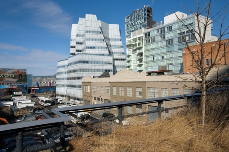 Frank Gehry's IAC, High Line, Manhattan, New York, America, January 2012
