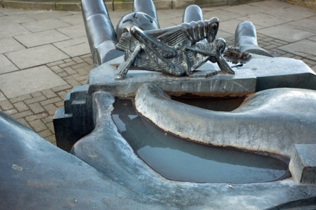 Paolozzi Sculpture, Leith Walk, Edinburgh, Scotland, February 2012