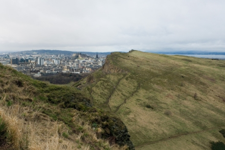 The Salisbury Crags, Edinburgh, Scotland, February 2012