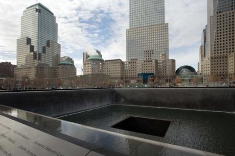 9/11 Memorial, Manhattan, New York, America, January 2012