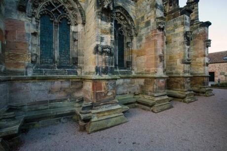 Rosslyn Chapel, Roslin, Midlothian, Scotland, February 2012