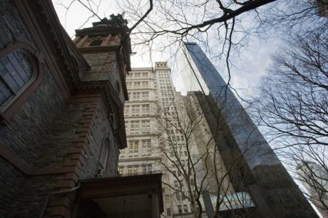 Trinity Church, Manhattan, New York, America, January 2012