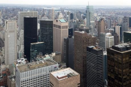 From the Rockefeller Centre, Manhattan, New York, America, January 2012