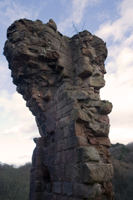 Roslin Castle, Roslin, Midlothian, Scotland, February 2012