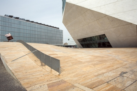 Casa da Música, Rem Koolhaas, Porto, Portugal, April 2012