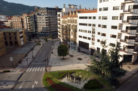 Plaza Carbayon, Oviedo, Spain, July 2013