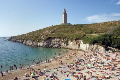 Torre de Hércules & Playa As Lapas, A Coruna, Spain, July 2013