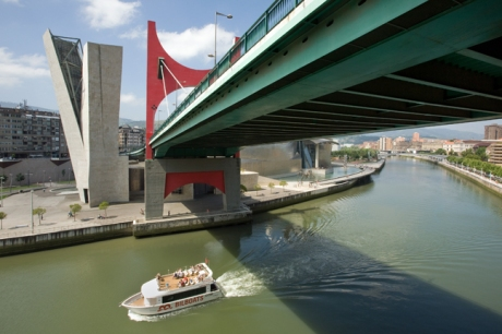 Ria del Nervion & La Salve Bridge, Bilbao, Spain, July 2013