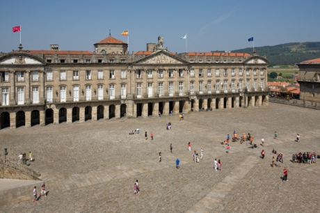 Plaza del Obradoiro, Santiago de Compostela, Spain, July 2013