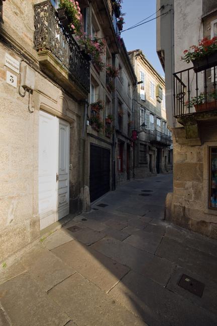 Rúa do Castro, Santiago de Compostela, Spain, July 2013