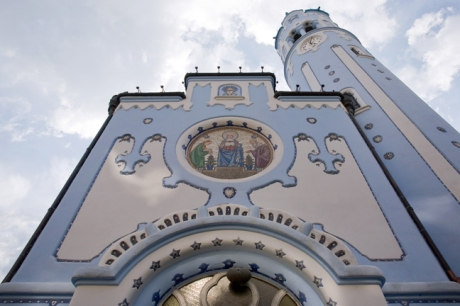 St. Elisabeth's, Modry kostolik, Bezručova, Bratislava, Slovakia, April 2014