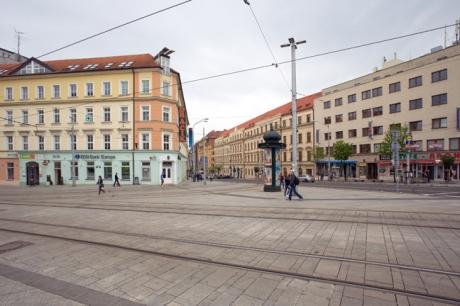 Hurbanovo námestie, Bratislava, Slovakia, April 2014