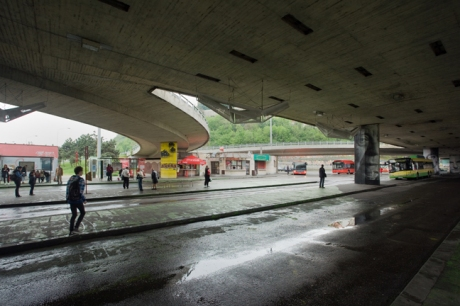 Novy Most Bus Station, Bratislava, Slovakia, April 2014