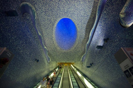 Toledo Metro Station, Naples, Italy, July 2017