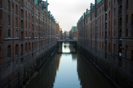 Speicherstadt, Hamburg, Germany, January 2018