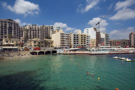 Spinola Bay, St. Julian's, Malta, July 2018