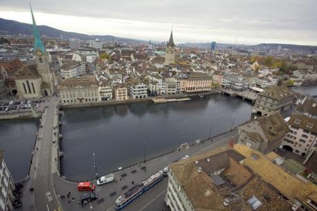 Die Altstadt, Zürich, Switzerland, November 2018