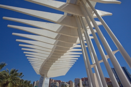 Paseo del Muelle Uno, Malaga, Spain, April 2019