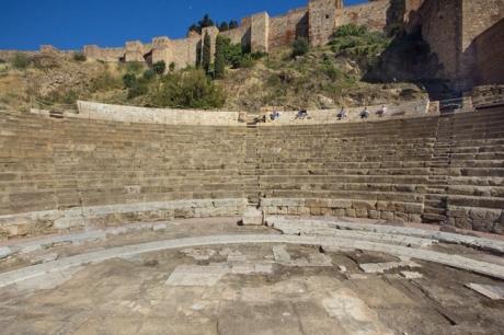 Teatro Romano, Calle Alacazabilla, Malaga, Spain, April 2019