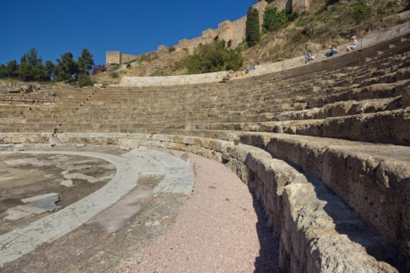 Teatro Romano, Calle Alacazabilla, Malaga, Spain, April 2019