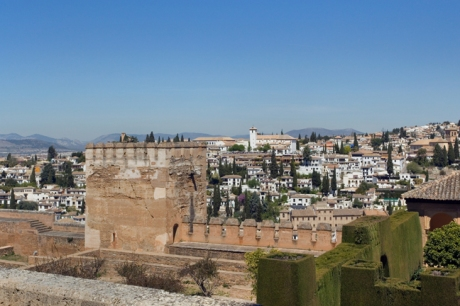Alhambra de Granada, Granada, Spain, April 2019