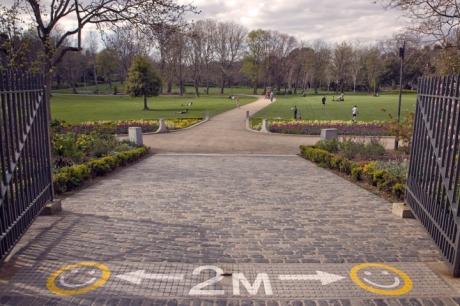 Merrion Square, Dublin, Ireland, April 2020 © Tom O'Connor 2020
