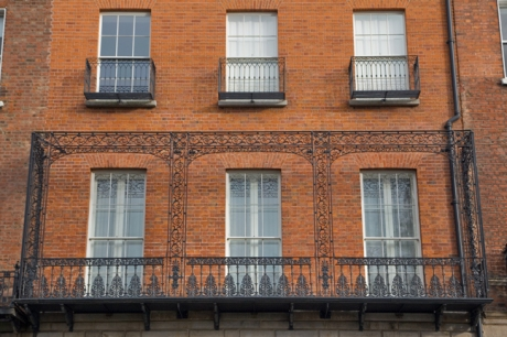 Merrion Square North, Dublin, Ireland, February 2021