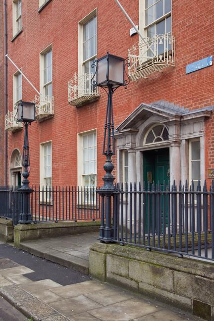 Ely Place, Dublin, Ireland, February 2021