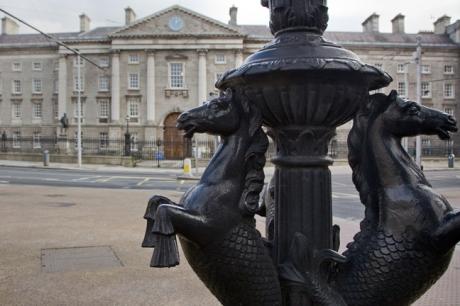 College Green, Dublin, Ireland, February 20211