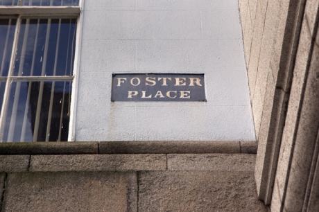 Foster Place, Dublin, Ireland, February 20211